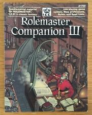 Rolemaster Companion III ICE #1700 Iron Crown MERP Softback Edition RARE