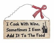Wine Wood Wall Art Funny Vintage Kitchen Sign Hanging Dining Room Decoration New