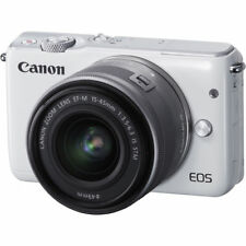 Canon EOS M10 Mirrorless Digital Camera with 15-45mm Lens White UU