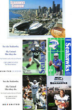 1998-2016 Seattle Seahawks Postcard & Pocket Schedules Lot (18)