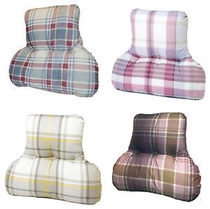 XL Back/Lumbar/Spine Posture Support Cushion *4 Tartan Prints* MADE IN UK