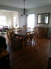 Canadel brand dining room table custom built in Canada