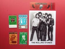 ROLLING STONES,Promo photo,4 Backstage pass,1981 concert ticket,RARE Originals,