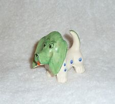 Vintage Dog Toothpick Holder Green Face Polka Dots Pin Cushion JAPAN 1950s