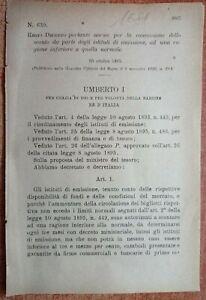 REGIO DECRETO X NORME CONCESSIONE SCONTO A ISTITUTI DI EMISSIONE-1681