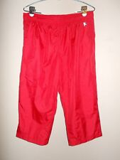 Danskin Now Womens Size L (12-14) Red Athletic Pants Elastic Waist Lined