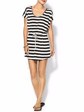 PIM & LARKIN BATHING SUIT COVER UP WHITE AND BLACK STRIPED SIZE L  $70