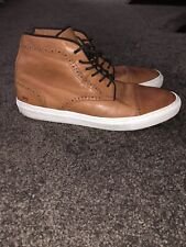RARE Mr B's US 10 Brown Leather Cap toe Brogue Ankle Lace Up Boots Shoes Nice