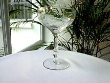 Sears Crystal Ambassador Pattern Clear Champagne Glass Multiple Avail.
