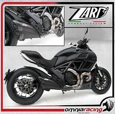 Zard Black  , Carbon end-cap racing slip on exhaust Ducati Diavel 2010 10>