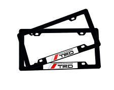 2x TRD Racing License Plate Frame For TOYOTA FR-S CELICA TACOMA CAMRY COROLLA GT