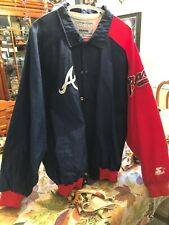 MLB ATLANTA BRAVES Jacket: Diamond Collection by STARTER Mens XL