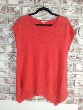 Eileen Fisher en Lin Rouge Mix Knit Top. Taille S/M. EX cond