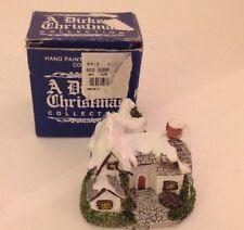 A Dickens Christmas WINTER COTTAGE Vintage 1987 RSVP Miniature Cottage Box