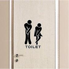Toliet Bathroom Vinyl Wall Door Sticker Decals Washroom Quotes Home Funny Decor