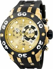 wachawant: Invicta 0917 Subaqua Reserve 51mm Swiss Made Gold Black Men's Watch