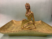 Vintage Yona of California - Ceramic Asian Figure with Matching Tray