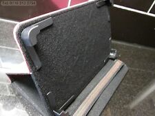 """Rosa Oscuro 4 Esquina Agarrar Multi Angle caso/soporte Ainol Novo 7"""" Flame/fuego PC"""