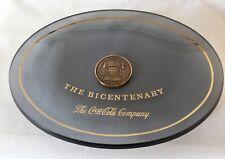 1776-1976 COCA-COLA Bicentennial of the USA Commemorative Smoked Glass Plate