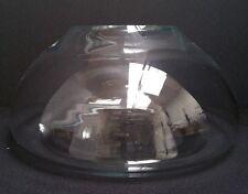 Mid-Century Modern Thick Clear Inside Dome Art Glass Vase Bowl Terrarium