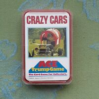 CRAZY CARS SET OF VINTAGE ACE TRUMP GAME 1970s CARDS IN CASE ~ TOP TRUMPS