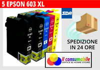 KIT 5 INKJET T603XL COMP. EPSON Epson WorkForce WF-2810 2815 2830 2850
