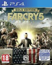 FAR CRY 5 GOLD EDITION - PS4 PLAYSTATION 4 - OFFICIAL UK RELEASE - NEW & SEALED