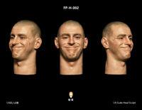 """Facepoolfigure 1/6 Man Head Sculpt Carved PVC Similing Fit 12"""" Action Figure"""