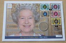 La Regina Elisabetta II Giubileo d'oro 2002 Copertura mercurio + 1977 Corona Moneta