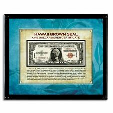 NEW American Coin Treasures Hawaii Brown Seal Note in Acrylic Frame 13672