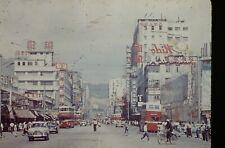 1950'S amateur Slide - HONG KONG  Chinese STREET SCENE MIDO WATCH  TRAM  35mm
