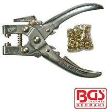 BGS Tools Hole Punch And Eyelet Pliers 5mm Incl. Eyelet Assortment 180mm 569