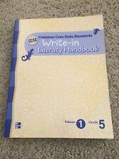 NEW McGraw CCSS Common Core 5th Grade 5 Write-In Literacy Handbook Vol 1