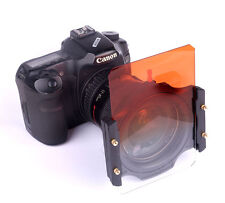 "100x150mm 4""x6"" Graduated Orange Color Filter for Cokin Z-Pro Lee Singh-Ray Case"