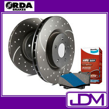 FITS TOYOTA LANDCRUISER 100 SERIES - SLOTTED RDA REAR Rotors & BENDIX 4WD PADS
