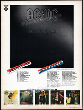 AC/DC - BACK IN BLACK__TOUR DATES promo__Original 1980 Trade print AD / poster
