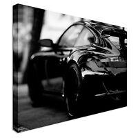 Porsche in black car Canvas Wall Art Picture Print