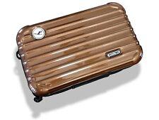 Rimowa Brown Metallic Zipped Cosmetic Kit Clutch Pochette Bag 1 VIP First Class!