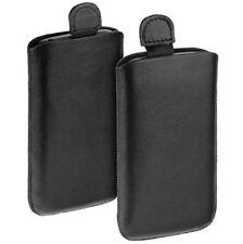 Elegante Easy Etui Tasche Case black f HTC Salsa Hülle