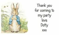 21 THANK YOU Address LABELS - PARTY - BABY SHOWER - PETER RABBIT - PERSONALISED