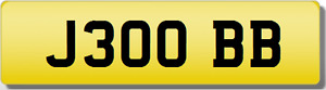 BB  OBB 30 THIRTY INITIALS Private CHERISHED Registration Number Plate 300