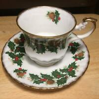 Vintage Rosina Yule Tide Cup & Saucer Fine Bone China Made in England