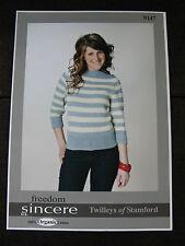 "Twilleys Knitting Pattern: Ladies Striped Boat Neck Sweater, DK,  32-42"",  9147"