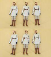 "lot of 6 Star Wars The Clone Wars Obi-Wan Kenobi Mustafar action figure 3.75"" #m"