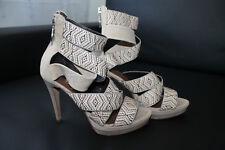 NEU Damen Leder Pumps Schuhe Absätze Miss Sixty Gr.38 Beige Leder