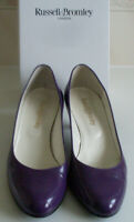RUSSELL & BROMLEY Purple Classic Pump Heels Court Shoes Size EU 39.5 UK 6.5