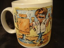 cup mug Russ Berrie male hairstylist definition cartoon figure coffee tea barber