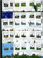 Beautiful Netherlands - Mooi Nederland 2005 10 souvenirsheets - MNH - Perfins