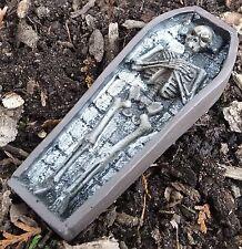 Open Wood Casket W Skeleton Miniature 1/24 Scale G Scale Diorama Accessory Item