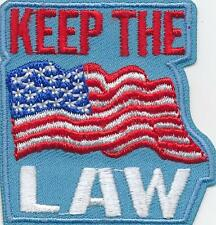 Girl KEEP THE LAW Fun Patches Crests Badge SCOUT GUIDE flag Remember Say I Know